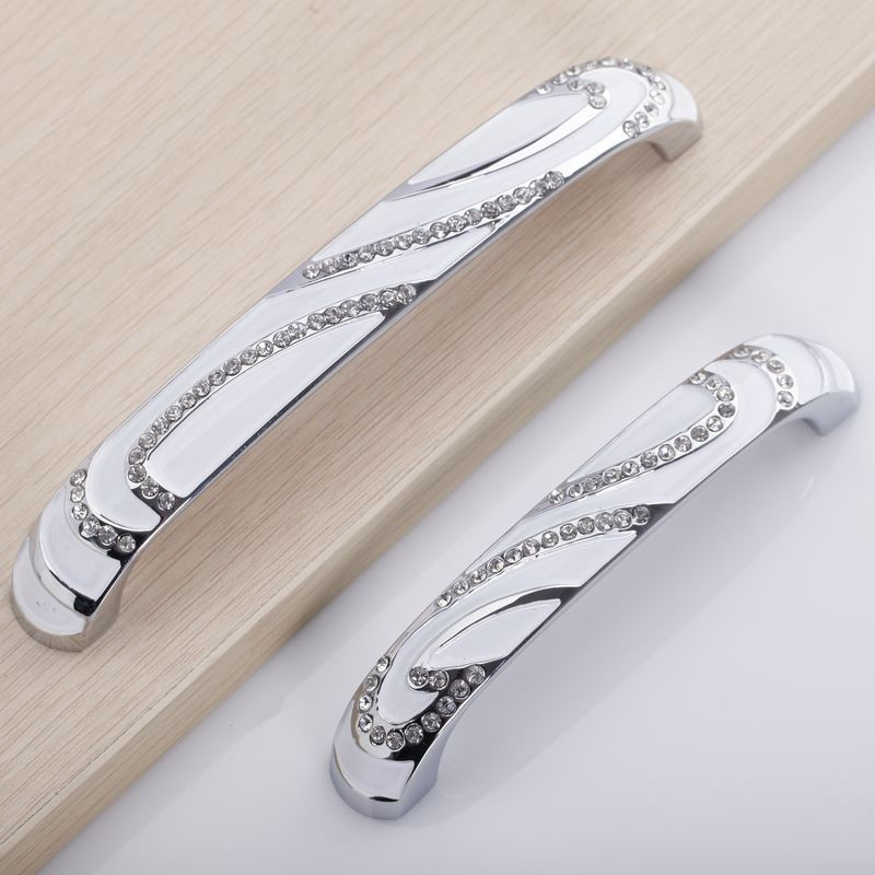 White Crystal Mosaic Dresser Drawer Pulls Handles Knobs / Kitchen Cabinet Handle Knob Pull Furniture Hardware dresser pulls drawer pull handles white gold knob kitchen cabinet pulls knobs door handle cupboard french furniture hardware