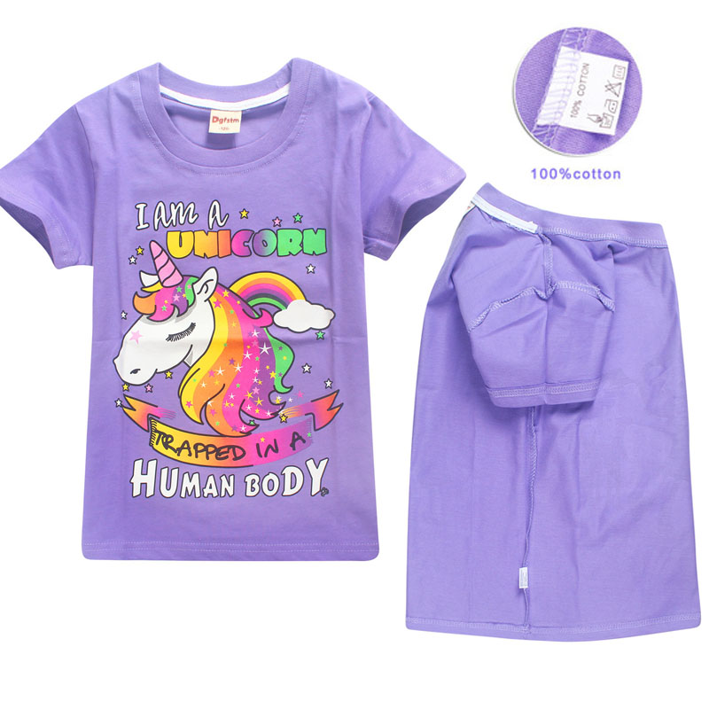I Am A Unicorn Trapped In A Human Body Kids Girls T-Shirt