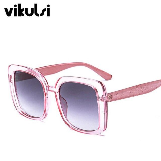 2018 Square Women's Sunglasses Fashion Sunglasses Luxury Brand Glasses Designer Shades Sun Glasses Women Men female oculos UV400 4