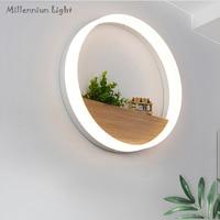 Modern LED Wall Lamp AC110 240V12W Wooden Bedroom Bedside Living Room Dining Room Hallway Light Decoration