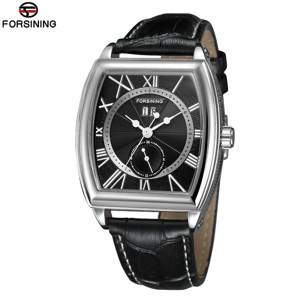 Relogio Masculino 2017 New Men s Wrist Watch Square Watches Luxury Top Brand Forsining Automatic Mechanical