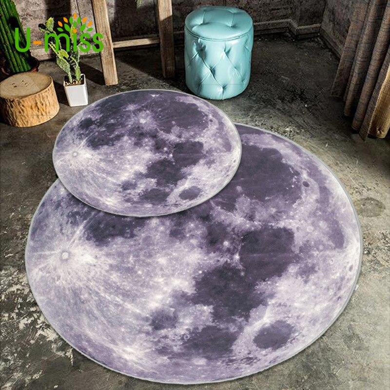 U-мисс Луна вокруг Земли творческий исследование ковер в Гостиная Спальня прикроватной тумбочке противоскользящие коврик