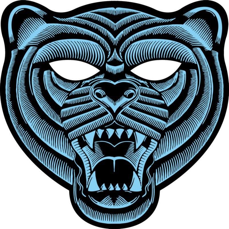 Volle Gesicht Party Masken LED Leuchtende Blinkende Voice Control Sound Perfekt Für Halloween Musik Festivals Masken