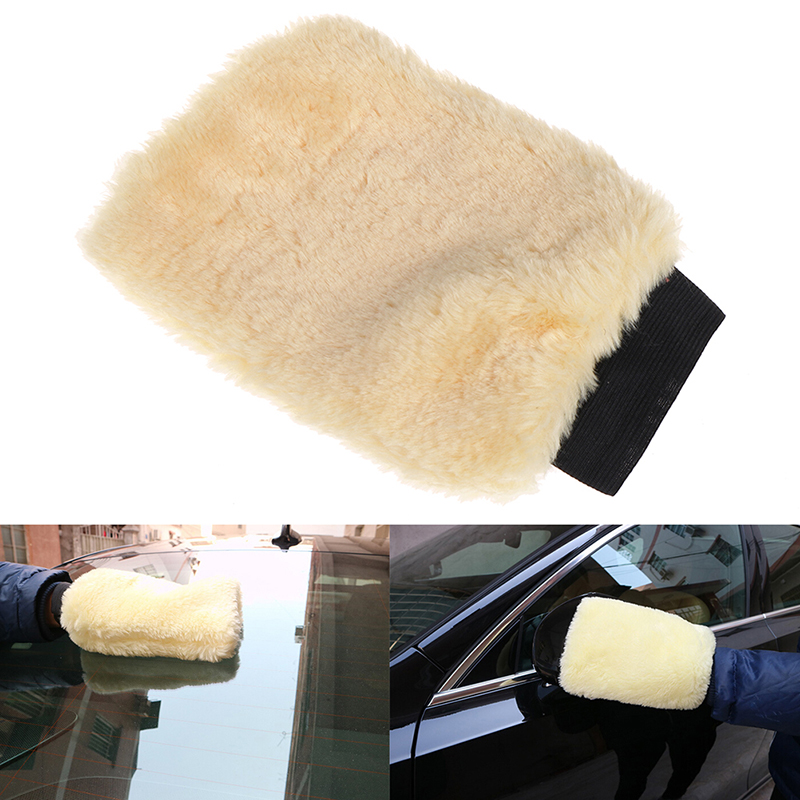 Microfiber Plush Mitt Car Wash Mitten Washing Glove Cleaning Brush Tool New OF