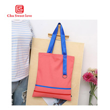 2018 Fashion Casual Female Shoulder Bag Foldable Reusable Shopping Women Bag Beach Bag Female Cotton Canvas Handbag Woman Pouch