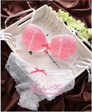 On Sale! Free Shipping Intimates New 2016 Secret Brand Women Cotton Lace Embroidery Luxurious Sexy Bra set Push up Underwear