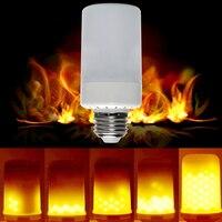 אמולציה iTimo הוביל הנורה להבה מרצד אש בוערת תירס אור נורות מנורת אווירת חג AC 90-220 V חג המולד אורות E27