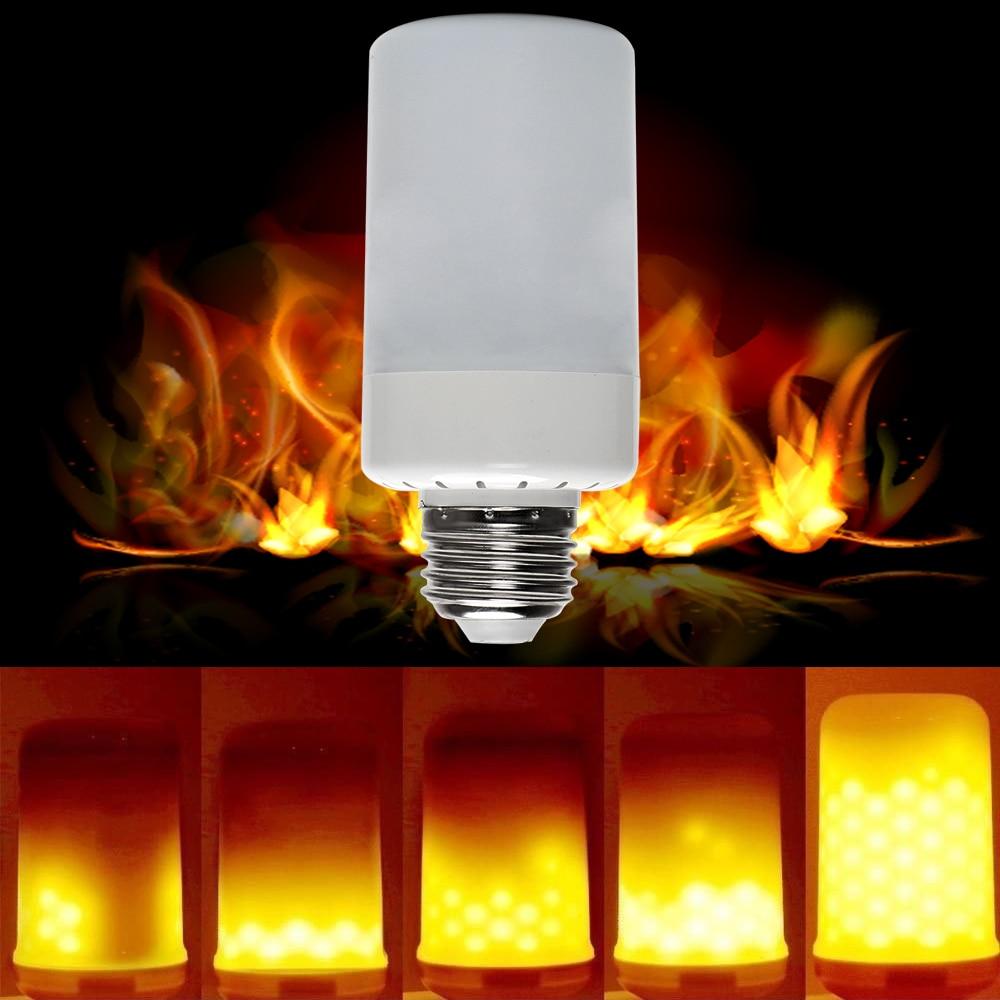 iTimo LED Flame Bulb Emulation Flickering Fire Burning Light Bulbs Corn Atmosphere Lamp AC 90-220V Holiday Christmas Lights E27