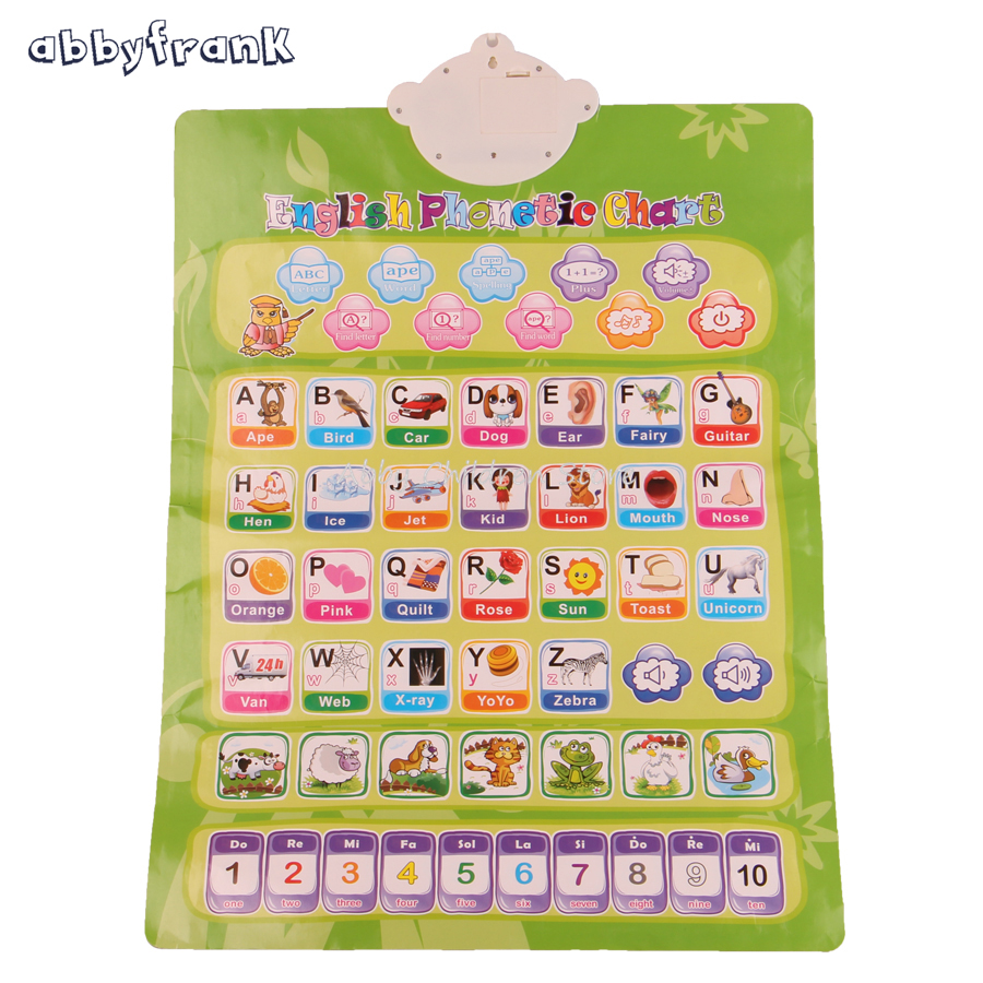 Abbyfrank Russian English Vocal Toy Learning Electronic Baby Music Toy Educational Phonetic Chart Early Language Toy