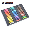 Giz Pastel Seco 36 Fast Temporary Hair Chalk Color Powder Hair Chalk Pastel Set Soft Chalk Crayons-For-Hair Extensions