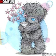 HOMFUN Full Square/Round Drill 5D DIY Diamond Painting Cartoon bear 3D Embroidery Cross Stitch 5D Decor Gift A14446 homfun full square round drill 5d diy diamond painting cartoon bear 3d embroidery cross stitch 5d decor gift a14427