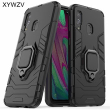 For Samsung Galaxy A40 Case Shockproof Armor Metal Finger Ring Holder Phone Cover
