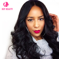 Hot Beauty Hair Body Wave 360 Lace Frontal Wig Peruvian Remy Hair Pre Plucked Human Hair