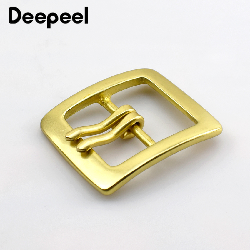 Retro Pure Copper Belt Buckle Solid Brass Metal Buckle For Belt Men Belt Pin Buckle DIY Leather Crafts Jeans Accessories