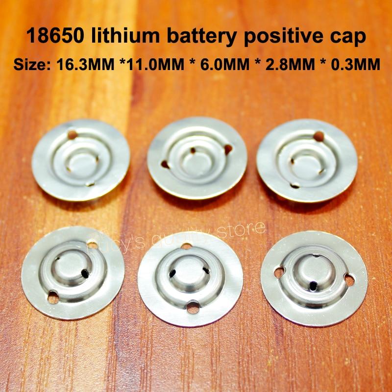 50 pcs/lot 18650 batterie au Lithium positive grande pointe bouchon batterie démonter accessoires de batterie capuchon plat isolant pad