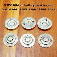 50 teile/los 18650 Lithium-batterie positive große spitze kappe batterie zerlegen batterie zubehör flache kappe isomatte