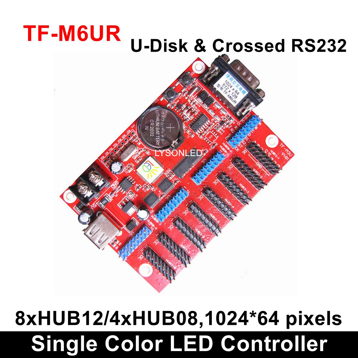 TF-MU TF-C6UR TF-M6UR Large USB Driver Port Single Color <font><b>LED</b></font> <font><b>Card</b></font> <font><b>Control</b></font> P4.75/P7.62/<font><b>P10</b></font> Monochrome/Dual <font><b>LED</b></font> Matrix <font><b>Module</b></font> image
