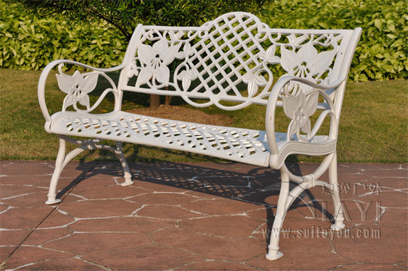 Tremendous Us 239 9 45 Inch Cast Aluminum Patio Garden Bench Park Bench Courtyard Leisure Conversation Seating Set For Home Furniture Decor In Garden Chairs Gmtry Best Dining Table And Chair Ideas Images Gmtryco