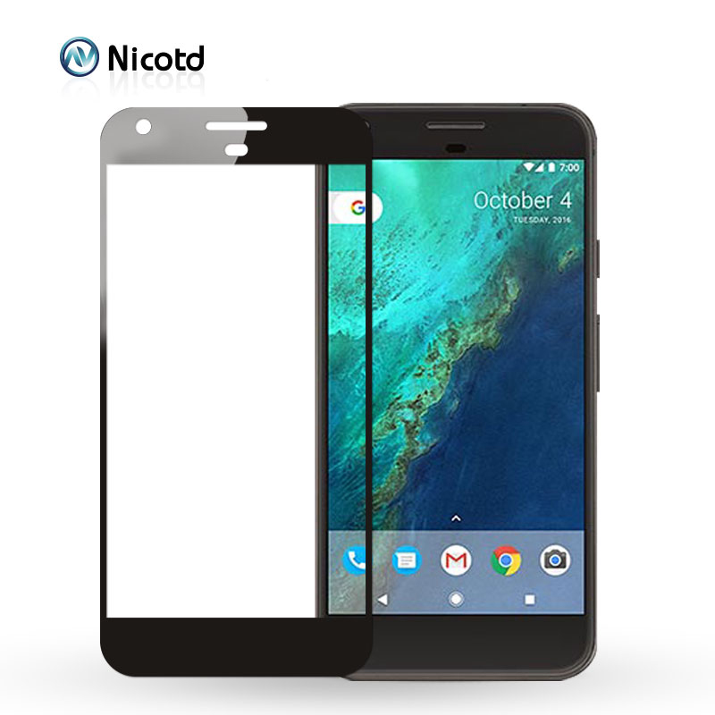Nicotd Full Coverage Protective Film For Google Pixel 3 XL Screen Protector For Google Pixel 2 2XL XL Glass Tempered Protection image