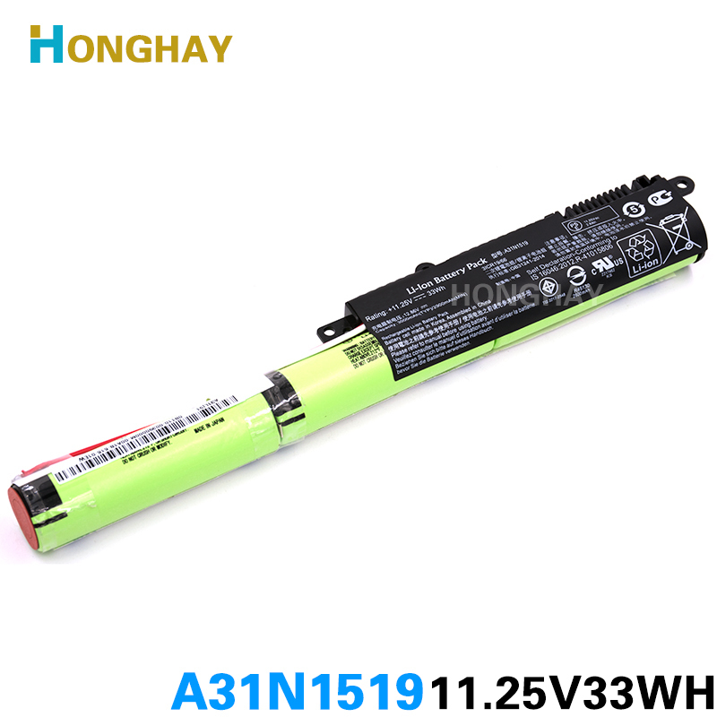 HONGHAY A31N1519 Laptop Battery for ASUS R540L X540L X540LA X540LJ X540S X540SA X540SC X540YA X540LA-1A X540LA-1C jigu laptop battery a31n1519 for asus x540la x540lj x540s x540sa x540sc x540l r540up r540sa 3cells