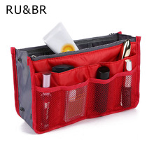 RU&BR Women &Girl's Multifunctional Solid Cosmetic Bag Zipper Make Up Bag Storage Bag for small part