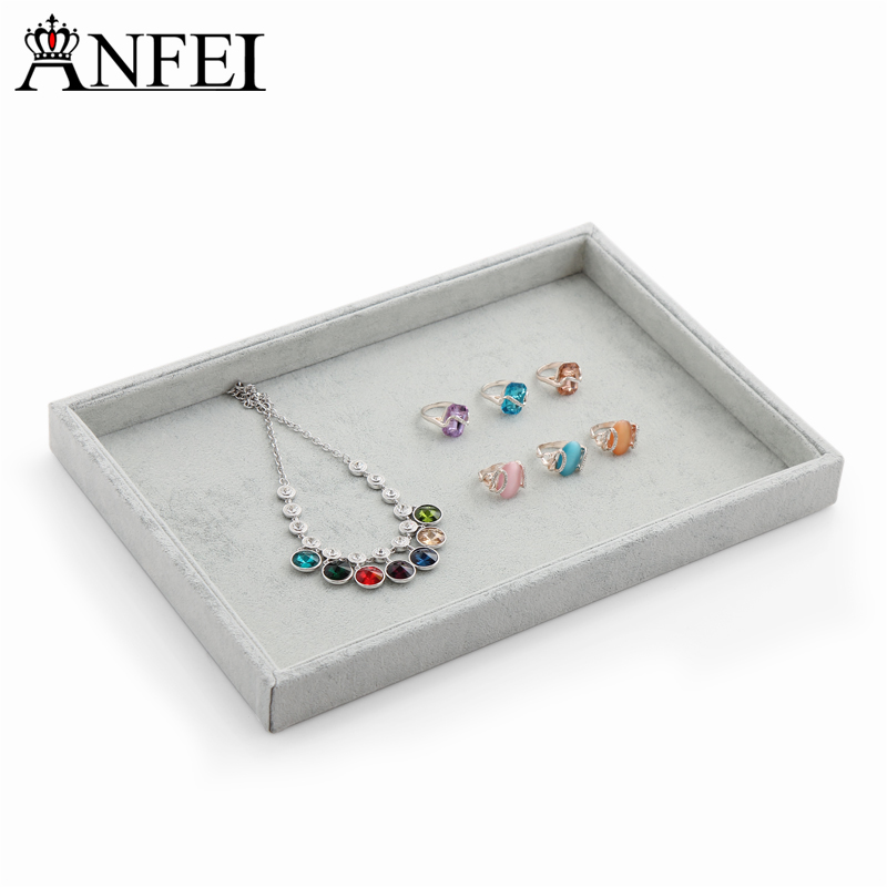 Anfei Jewelry Display Tray Necklace Organizer Box Jewelry Showcase Gift boxes Storage Of Ornaments Organizer for decorations A04