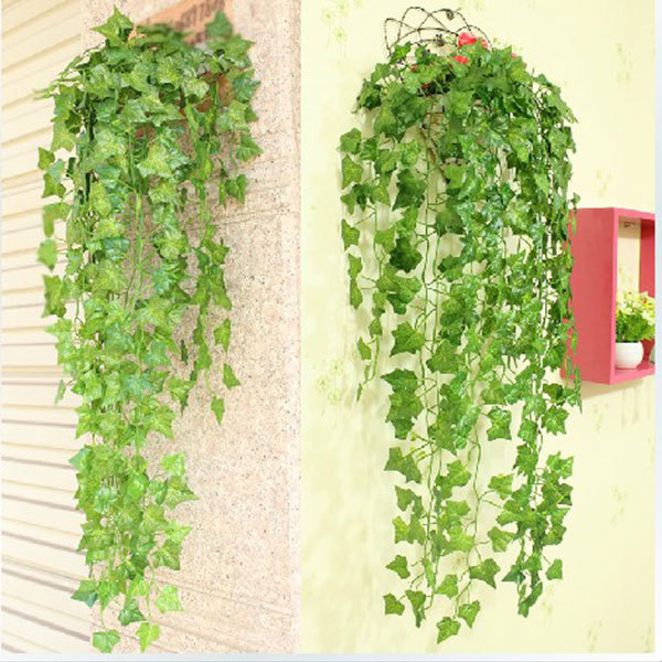 75 ft artificial vine grape leaf garland plants fake foliage flowers home garden weeding decoration