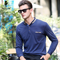 Troilus New Brands Fashion Mens Solid Turn-Down Collar Long Sleeve Polo Shirts Camisas Polos Slim Fit Shirt Men Casual Polos