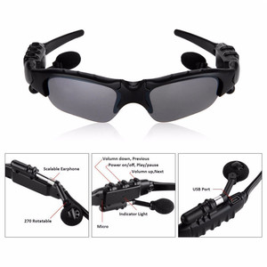 Image 4 - Sunglasses Bluetooth Headset Outdoor Glasses Earbuds Music with Mic Stereo Wireless Headphone for iPhone Samsung xiaomi mi 4 5