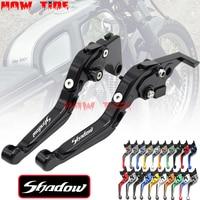 Motorcycle Folding Extendable CNC Moto Adjustable Clutch Brake Levers For Honda Shadow 600 750 Spirit 1100 1300