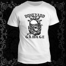New 2018 Hot Fashion Short Sleeve Cotton T Shirts Man Clothing Boneyard Garage Cool