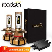 Roadsun H7 светодиодный H4 с Lumi светодиодный s Luxeon зэс чипов автомобилей головные фары лампы H1 светодиодный H11 H8 HB3 9005 HB4 9006 Авто Лампа 6000K 12V 12000LM