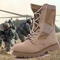 Temporada de primavera 2 Táctica Militar Botas Botas de Desierto botas de Combate Del Ejército Al Aire Libre de Viaje de cuero de Vaca de Calidad Especial de la Fuerza de Trabajo