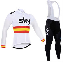Hot new team 2017 Bike bicycle men sweater long-sleeved clothes sky warmer winters brand Sportwear Bike polar Mtb clothes