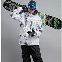 Gsou Snow Snowboard Jacket Men S Winter Windproof 35 Warm Outdoor Tops High Quality Ski Tops