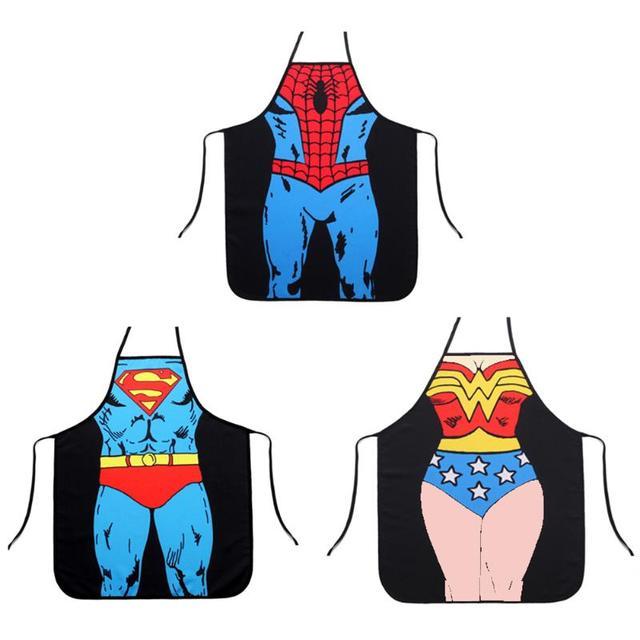 1 pc Divertente Grembiule Novità Sexy del Partito di Pranzo Del Superman Del Fum