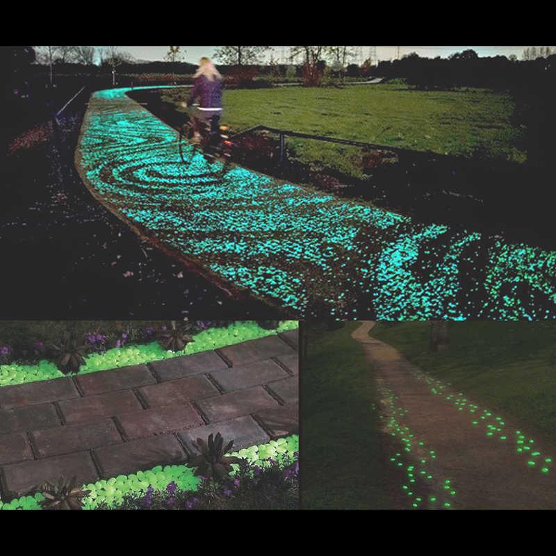 Bộ 100 Trắng Phối Dạ Quang Sỏi Đá Làm Vườn Hồ Cá Cảnh Quan Sân Vườn Sân Trang Trí Nhân Tạo Phát Sáng Sỏi Đá