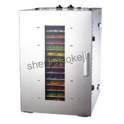 Handlowa owoce suszone odwadniacz 16-warstwy ze stali nierdzewnej żywności odwadniacz ST-02 suszone owoce maszyna owoce odwadniania suszarka do 1pc