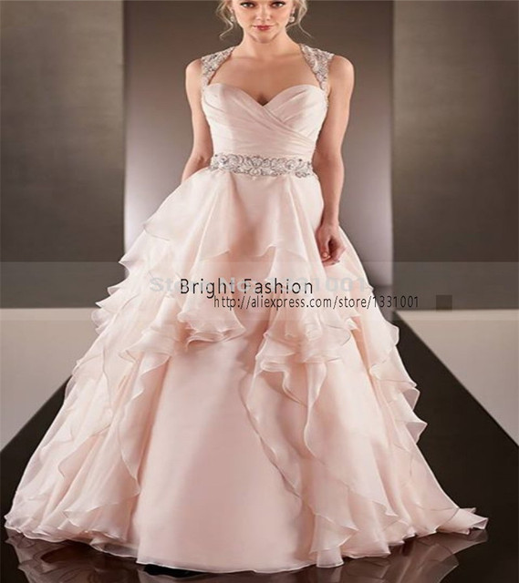 ec8147799e66d Blush Wedding Dresses Sexy Sweetheart Wedding Dress Pink 2015 New Designer  Wedding Dresses Bridal Gowns Backless