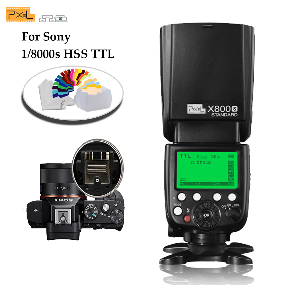 Pixel X800S Standard 2.4G Wireless GN60 TTL HSS Camera Flash Speedlite For Sony A7 A77 A7R RX1 A6000 A6300 DSLR Vs X800N Yongnuo pixel x800s standard gn60 hss ttl flash speedlite 2pcs king pro 2 4g flash trigger transceivers for sony a7 a7s a7r a7rii