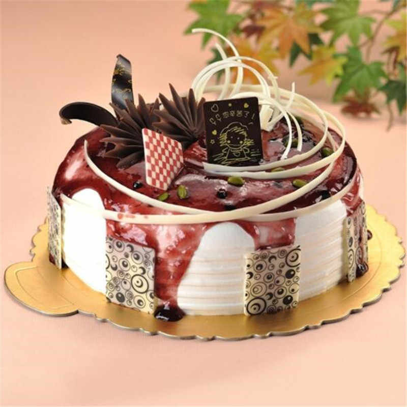 Creative Round Square Cake Plate Base Paper Cake Rack Carton Pad Pastry Baking Paper Mat Decoration