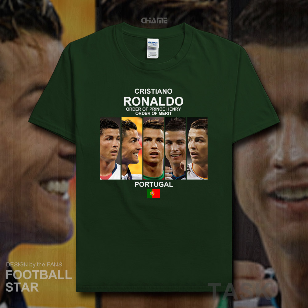 Cristiano Ronaldo t shirt 2018 jerseys Portuga Real footballer star tshirt 100% cotton fitness Madrid t-shirt clothes summer 20