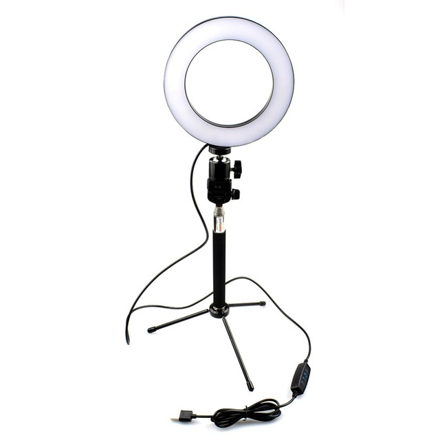 Lightdow Big/Small Dimmable LED Studio Camera Ring Light  Phone Video Light Lamp With Tripods Selfie Stick Ring Table Fill Light