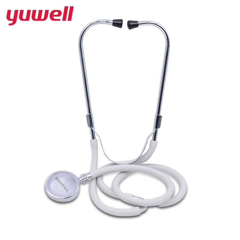 yuwell Professional Single Stethoscope Full Copper Audible Fetal Heart Rate Medical Stethoscope For Nurse Vet Medical Student double two site stethoscope hear fetal heart copper