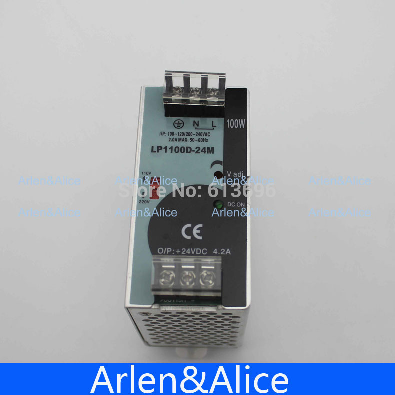100W 24V 4.2A Mini size Din Rail Single Output Switching power supply 100-240V input universal input power supply 48v 100w din lp 100 48 switching power without the function of measuring