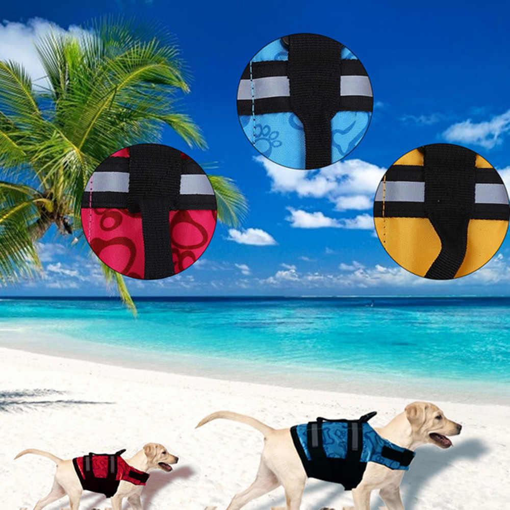 Безопасная Спасательная куртка для собак жилеты для домашних животных/одежда для плавания для собак, плавательный спасательный жилет с отражающей полоской безопасности