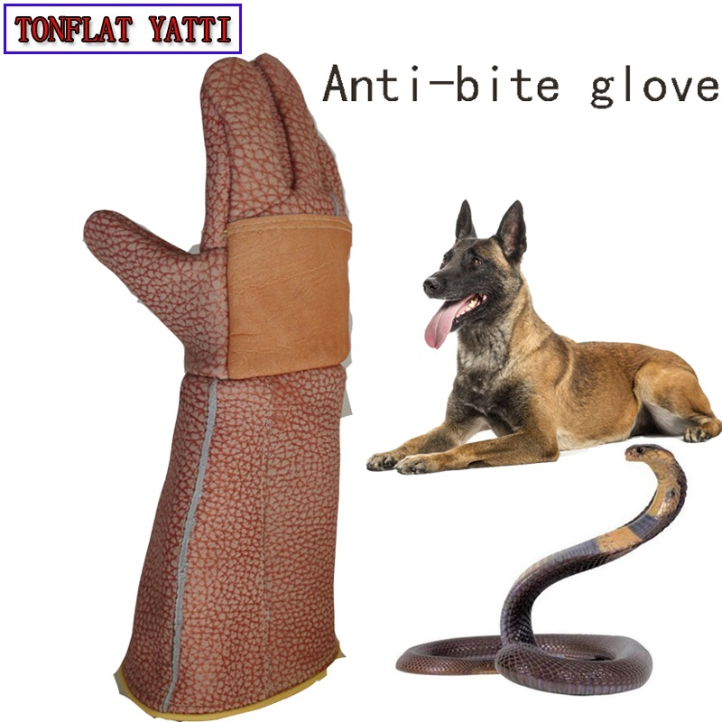 Thick Leather Anti bite gloves tactical animal training for dog cat snake bite anti scratch protective