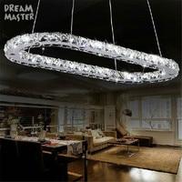 Modern pendant light LED crystal pendant lamp for island lighting fixtures abajour for dining living room bedroom kitchen salon