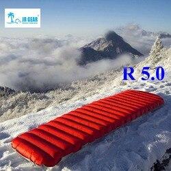 JR Gear R 5.0 PrimaLoft ultralight powietrze na zewnątrz materac odporny na wilgoć nadmuchiwany materac z TPU flim camping rurka powietrzna łóżko
