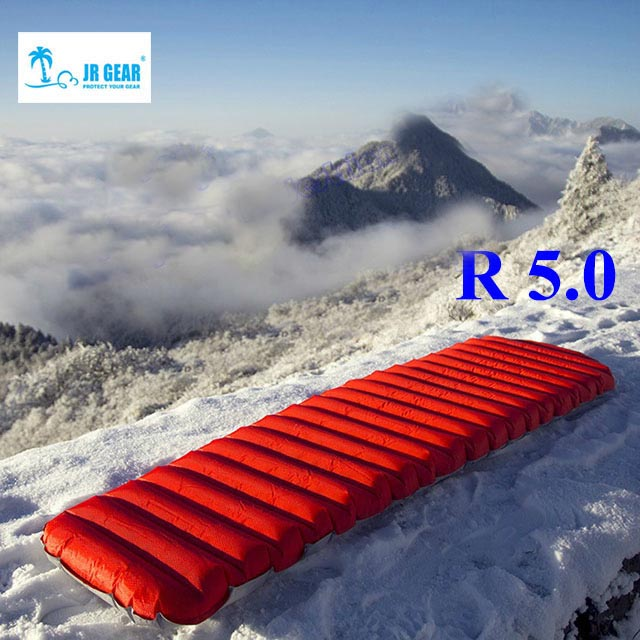 JR Vitesse R 5.0 PrimaLoft ultra-léger en plein air matelas d'air étanche à l'humidité gonflable air tapis avec TPU flim camping air tube lit